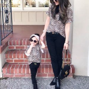 Matching Mommy & Me leopard Tops